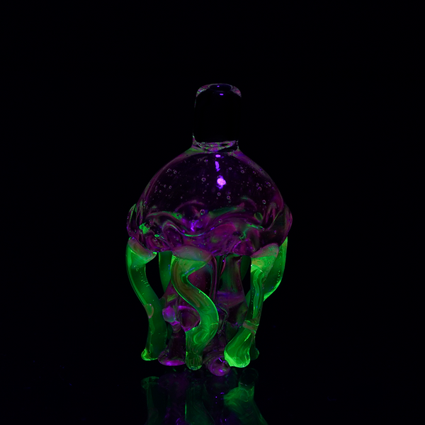 Empire Glassworks - UV Jellyfish Carb Cap