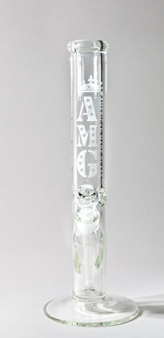 AMG Glass- 7mm Thick Straight Tube Bong 15'' or 18''