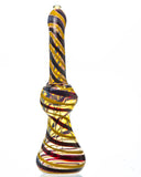 8 Swirled Colored Glass Bubbler