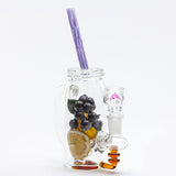 Empire Glassworks - Blueberry & Orange Mason Jar Water Pipe