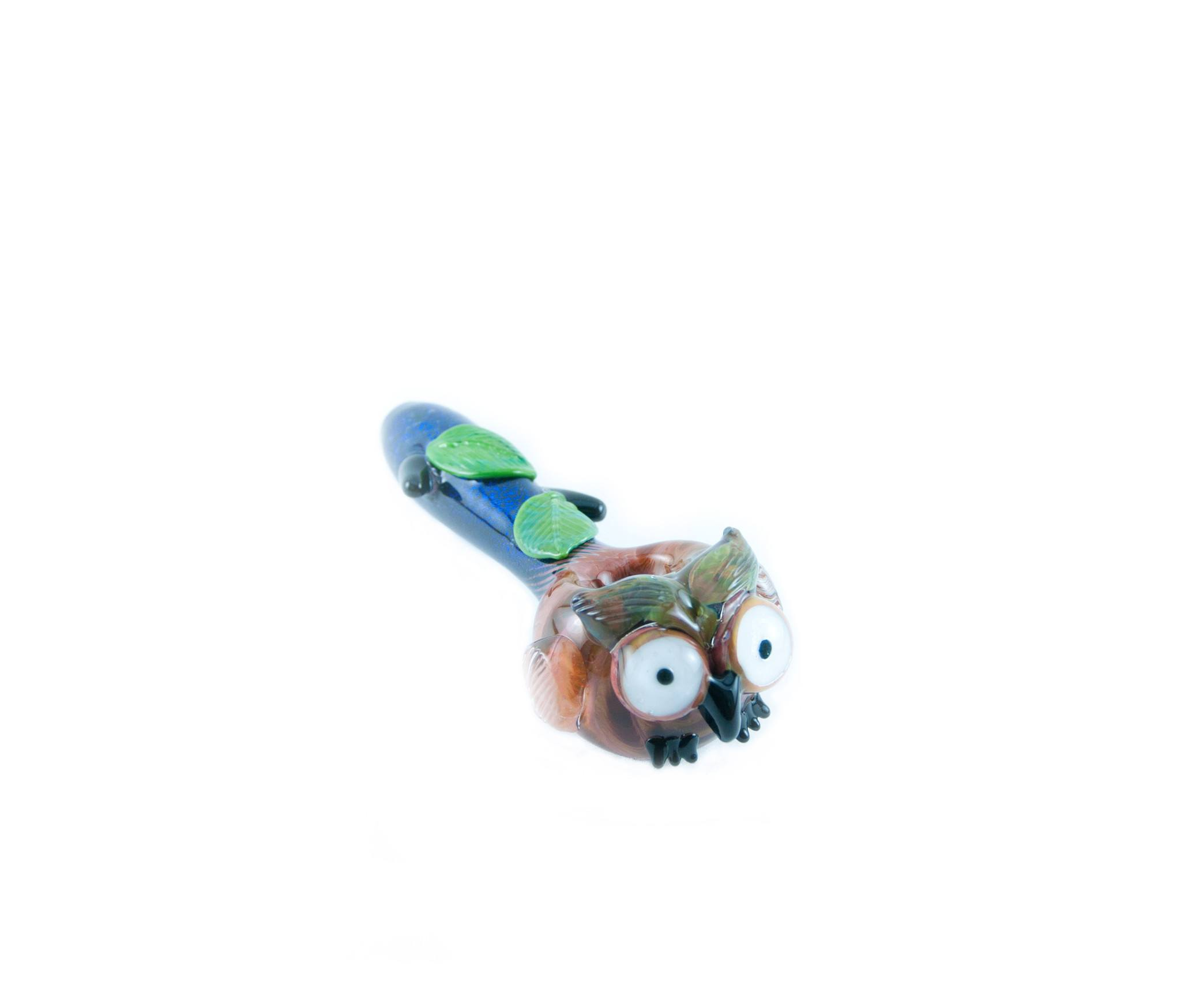 Empire Glassworks - Dichroic Owl Hand Pipe