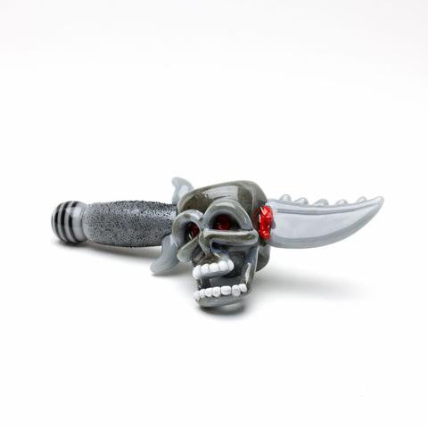 Empire Glassworks - Daggered Skull Handpipe
