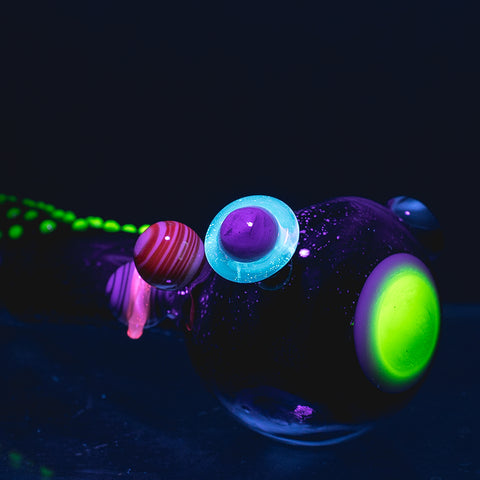 Empire Glassworks - Galaxy Handpipe UV Reactive