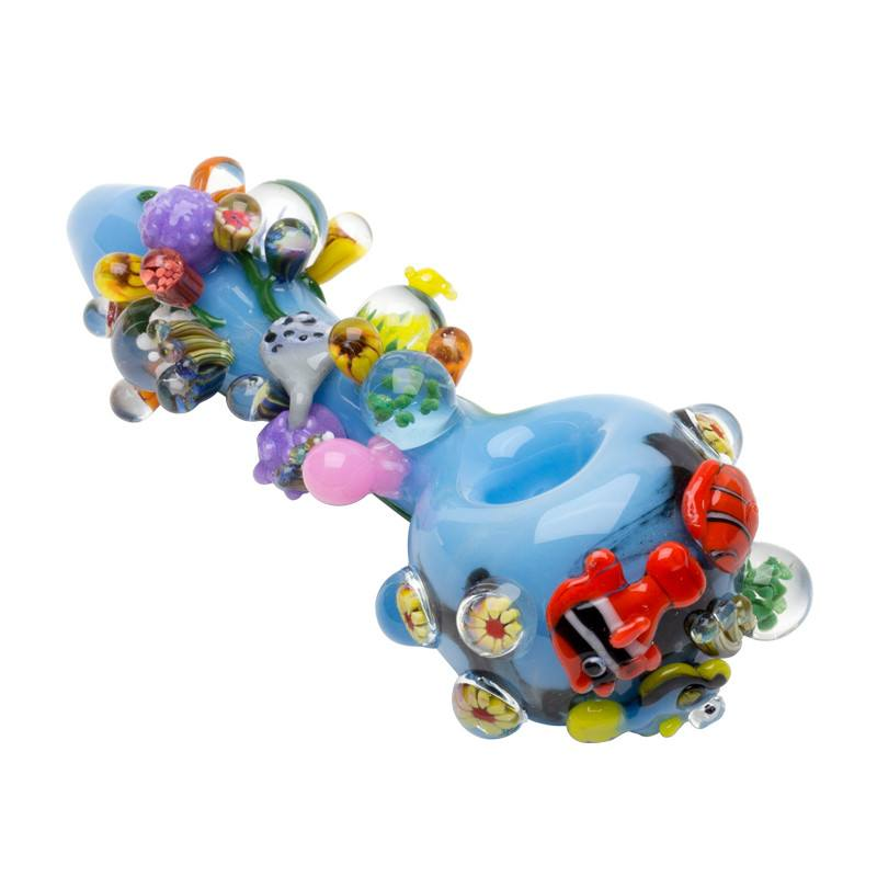 Empire Glassworks - Ocean Life Hand Pipe