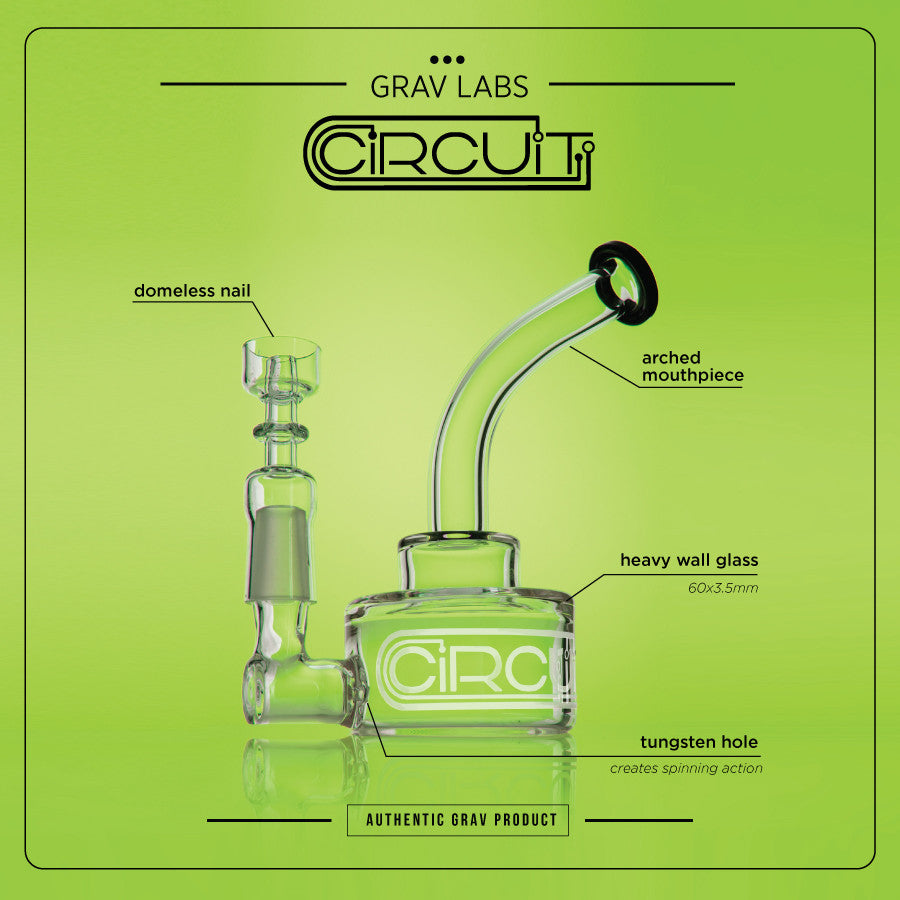 The Grav Labs Circuit Puck dab rig product highlights