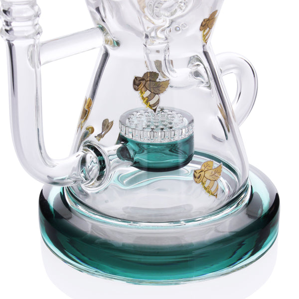Honey Supply - Internal Hourglass Recycler with Honeycomb Perc 12''