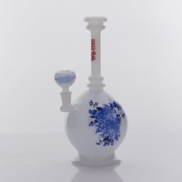 "The China Glass - ""Zhou"" Dynasty Vase Water Pipe 14''"