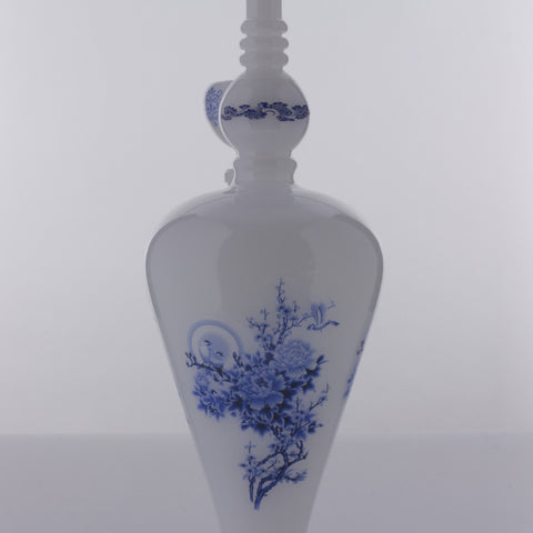 The China Glass  - Youwei Dynasty Vase Water Pipe 14''
