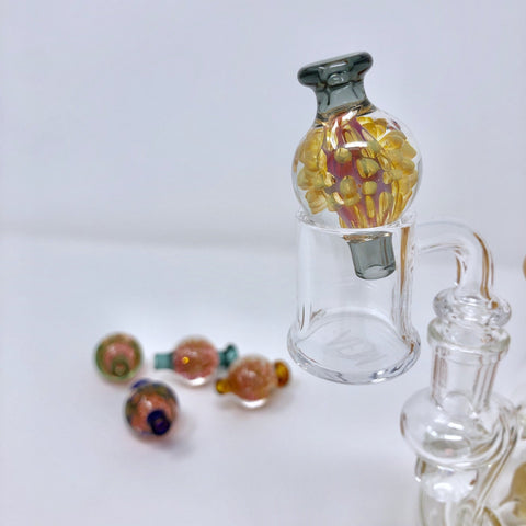 AFM Glass - GOLD FUME BUBBLE CAP