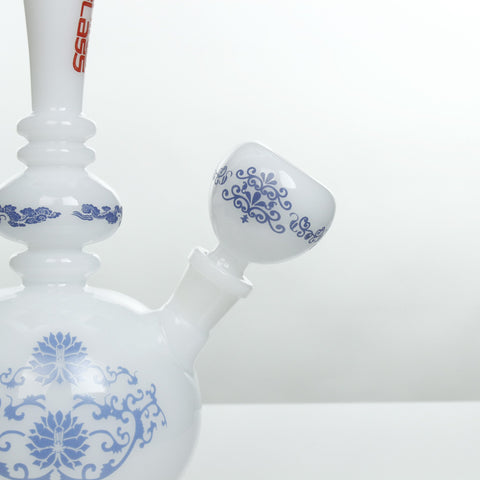 China Glass Yuan Dynasty Vase Water Pipe