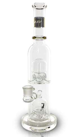 Maverick Glass - Double Stacked Quad Gear Perc Bong 16''