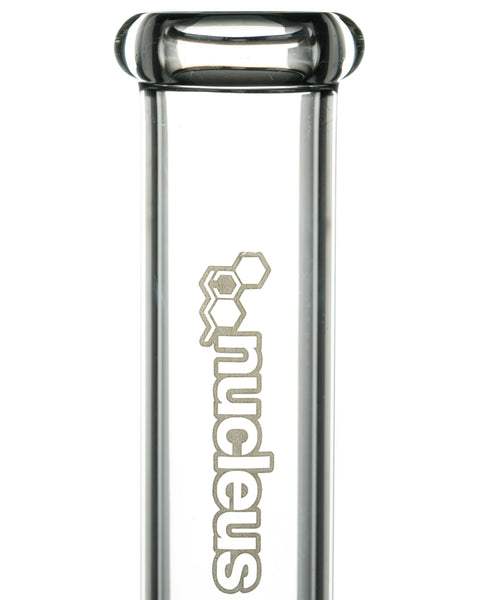 Nucleus - Straight Tube Bong with Donut Ice Catcher 15''