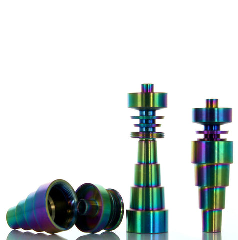 Anodized Titanium Nail 6 in 1 - 10mm / 14mm / 18mm Male & Female
