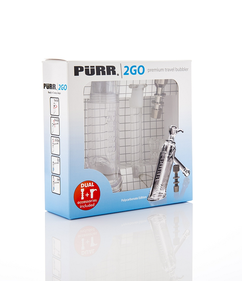Purr Glass - Purr 2 Go Premium Bubber for Dry Herb & Dabbing