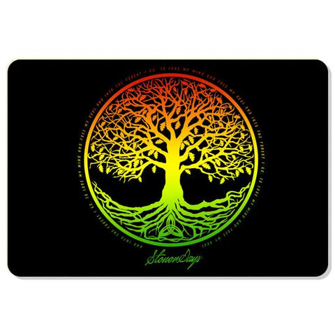 Tree of Life Rasta Dab Mat
