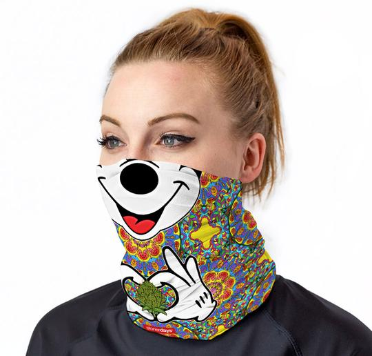Trippy Mouse Neck Gaiter
