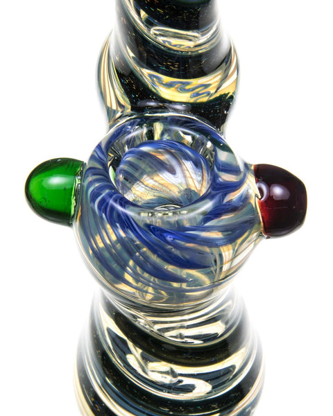 Dichro Stripe Glass Bubbler