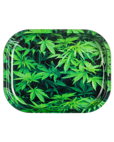 Green Leaves Rolling Tray