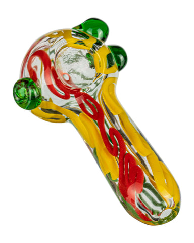 Thick Latty Rasta Spoon w/ Marble Accents