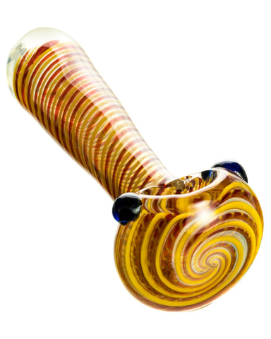 Tight Spiral Spoon Pipe w/ Fumed Glass