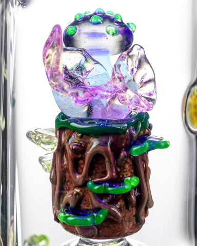 Empire Glassworks - Self Illuminating Forest Night Themed Recycler
