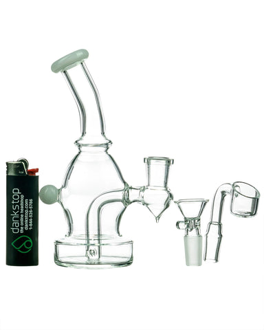 Nucleus - Curved Body Dab Rig With Colored Accents