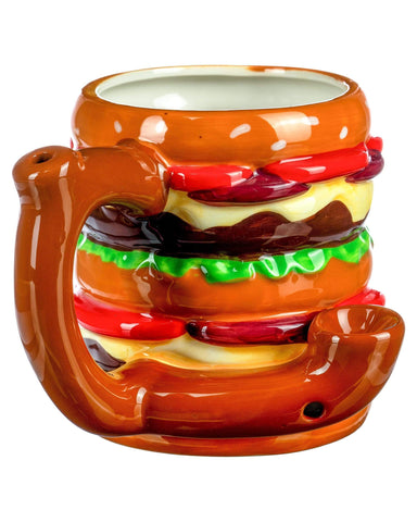 Double Cheeseburger Pipe Mug