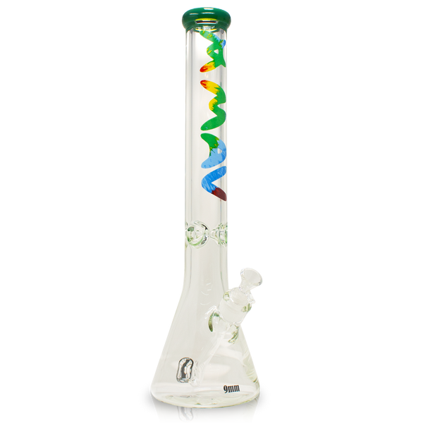 Maverick Glass - 9MM FOREST TIE DYE BEAKER BONG