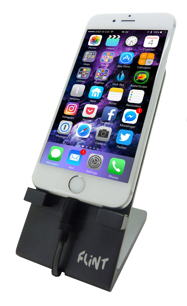 FLiNT PROFESSIONAL METAL SMARTPHONE STAND FOR IPHONE ANDROID, AIRCRAFT GRADE ALUMINUM  ALL MODELS