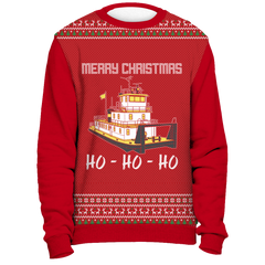 Towboater Ugly Christmas Sweater - Merry Christmas HoHoHo R2