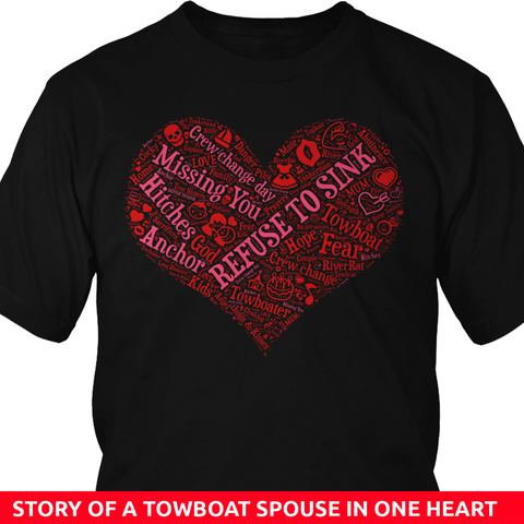 Story of A Towboat Spouse In One Heart Red