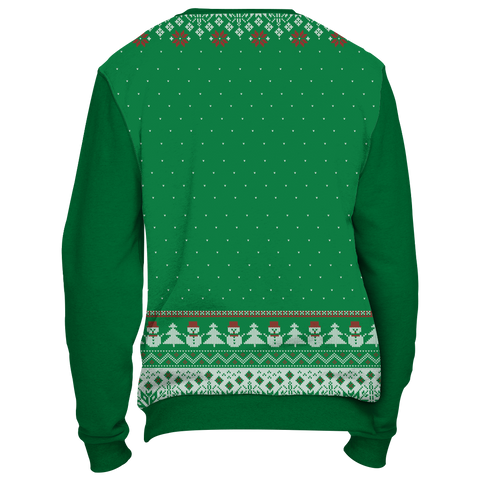 Towboater Ugly Christmas Sweater - Merry Christmas HoHoHo Green