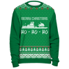 Image of Towboater Ugly Christmas Sweater - Merry Christmas HoHoHo Green