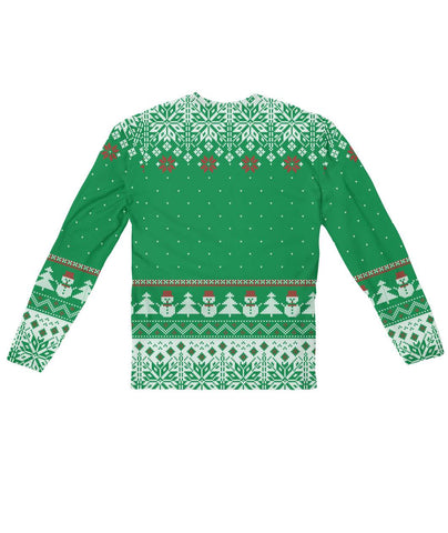 Funny Ugly Christmas Sweater Design  Sublimation Long Sleeve