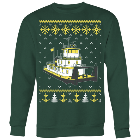 Matching Towboater Family Ugly Christmas Sweater