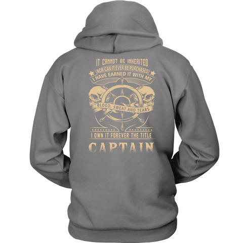 Captain Title Earned Hoodie