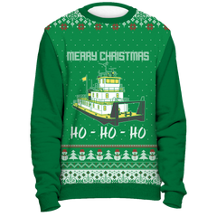 Towboater Ugly Christmas Sweater - Merry Christmas HoHoHo G2