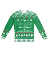 Towboater Green Santa Ugly Christmas Sweater