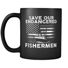 Scallopers Mug - Save Our Endangered Fishermen