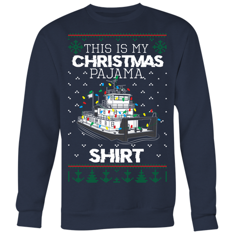 This Is My Christmas Pajama Shirt - Towboater Matching Family Ugly Christmas Light Design