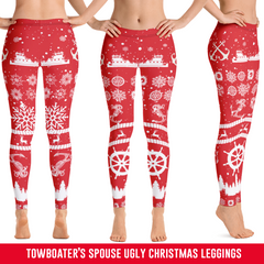 Towboater's Spouse Ugly Christmas Leggings