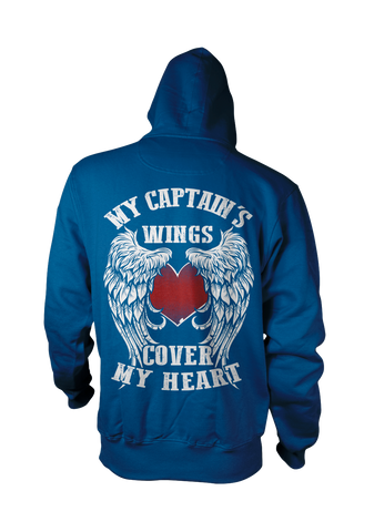 My Captain's Wings Cover My Heart Hoodie