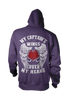 Image of My Captain's Wings Cover My Heart Hoodie