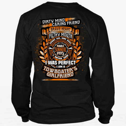Dirty Mind! Caring Friend! Towboater's Girlfriend Tshirt