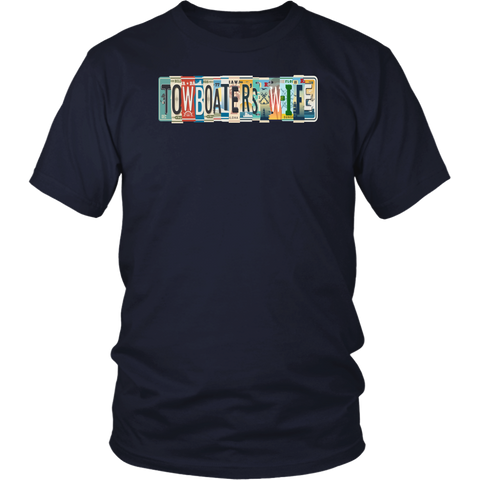 Towboater's Wife License Plate Shirt
