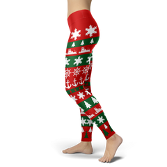 Towboater Ugly Christmas Leggings RG