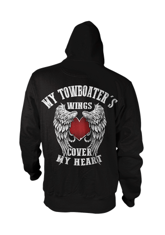 My Towboater's Wings Cover My Heart Hoodie