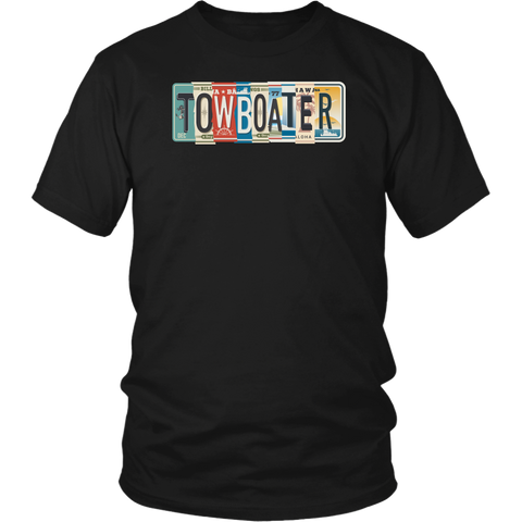 Towboater License Plate Tees