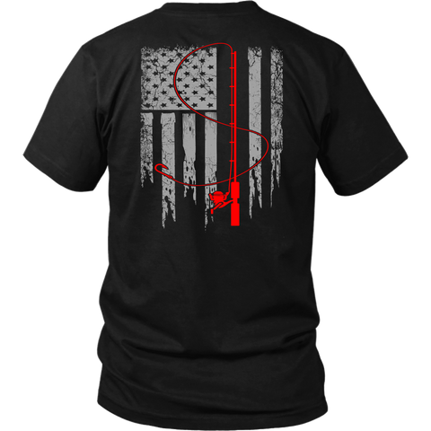 Patriotic Fishing Flag Tee