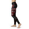 Image of Black and Red Sugar Skull Leggings